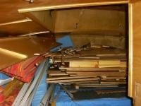 Achterkabine Holzlager
