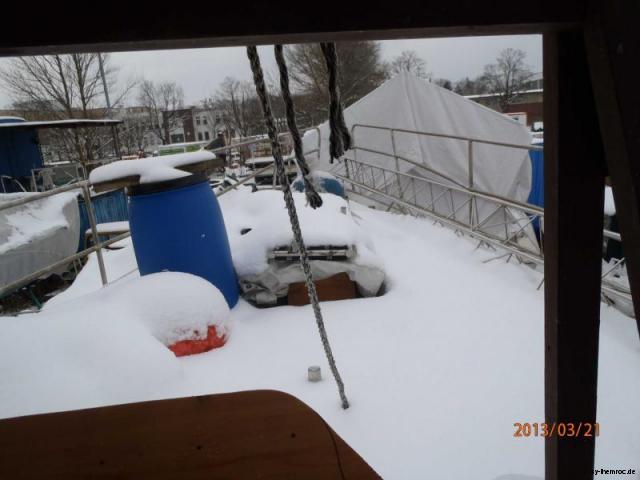 schnee auf dem vordeck 20130221