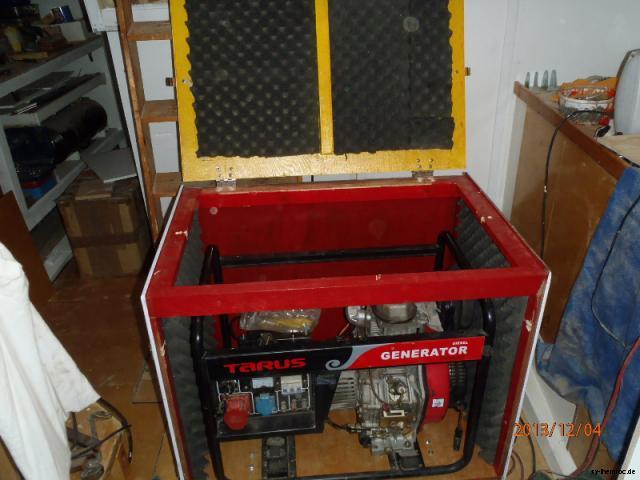 20131204 generator box schallisolierung