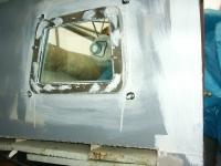 Fenster im Cockpit  innen